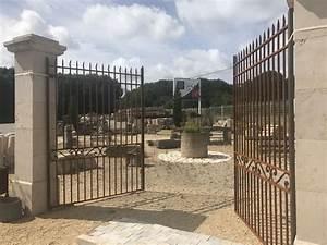 Portail Fer Forgé Plein : portail fer forg l 39 ancienne fer plein forg la main ~ Dailycaller-alerts.com Idées de Décoration