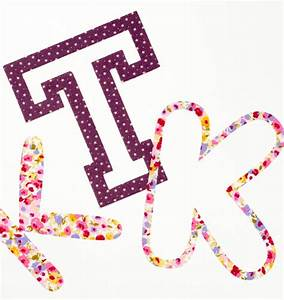 fancy iron on fabric letters by make it friday With make iron on letters