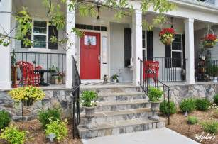 39 s farmhouse style front porch with pops of