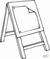 Coloring Easel Class Caballete Colorear Template Rysunek Obraz Dibujo Kolorowanki Darmowe Wydruku Szkoła sketch template