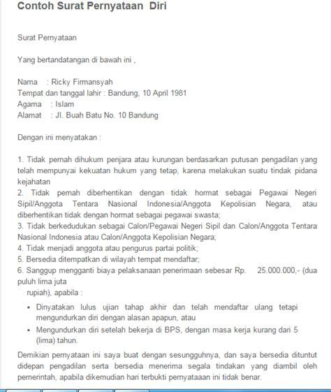 Contoh Surat Kronologi by Contoh Surat Pernyataan Yang Perlu Kamu Ketahui Sofyan