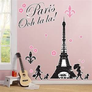 paris damask giant wall decals birthdayexpresscom With beautiful paris themed wall decals