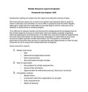 Marketing Report Template Word