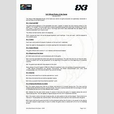 Fiba 3x3 Official Rules Of The Game 2016