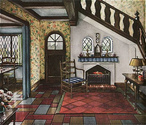 1930 Armstrong Linoleum—english Revival Style  English