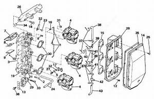 evinrude 1988 60 e60tlccr intake manifold parts catalog With diagram of 1988 e200cxccr evinrude intake manifold diagram and parts