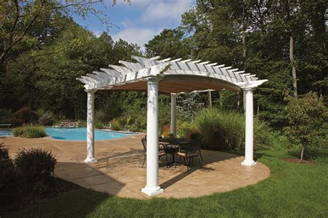 walpole outdoors pvc pergola kits for your summer project marketing home products