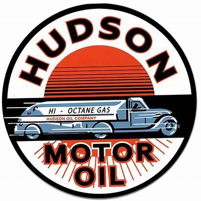 Motor Hudson Oil Signs