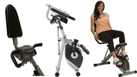 Foldable exercise bike with backrest | best folding ...