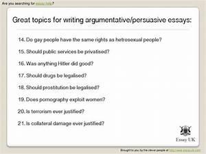 interesting persuasive speech topics