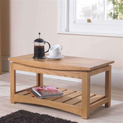 crescent solid oak coffee table  delivery sale