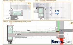 free et placer des poutres entre la maison et le mur With marvelous photo maison toit plat 12 carports b251chers