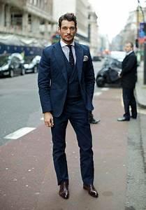 David Gandy in navy blue suit   David gandy suit, David ...