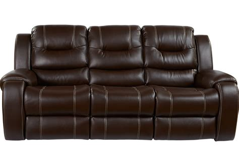 sofa with two recliners baycliffe brown reclining sofa sofas brown