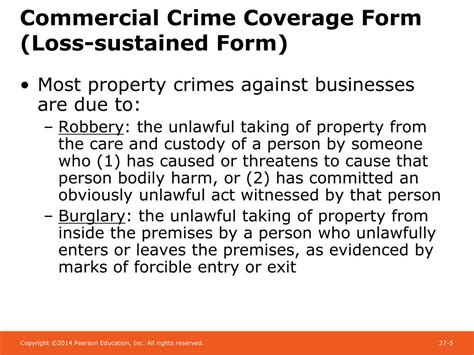 Coverage for a particular insuring agreement is provided when a limit is shown beside the insuring agreement on the declarations page. PPT - Chapter 27 Crime Insurance and Surety Bonds PowerPoint Presentation - ID:1780124