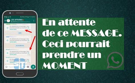 fixer le probl 232 me whatsapp 171 en attente de ce message ceci