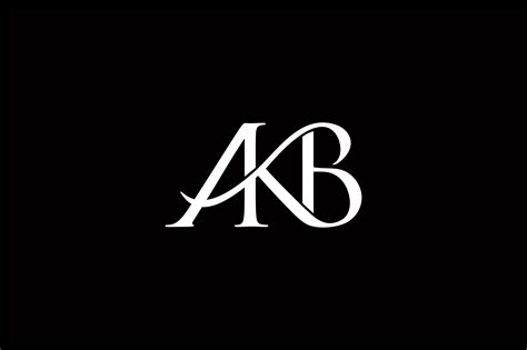 Monogram Akb Logo Design Graphic By Greenlines Studios