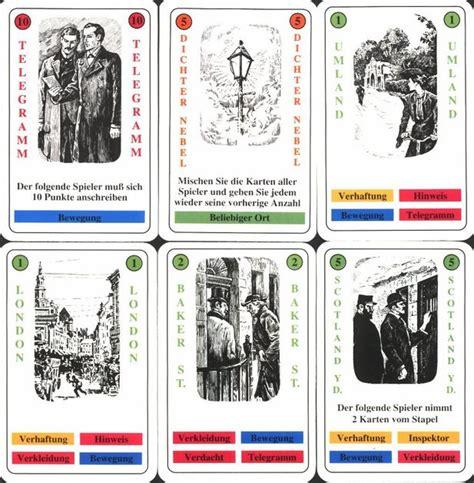 holmes sherlock game card boardgamegeek cards games
