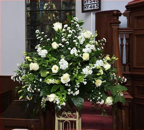 large wedding flower arrangements  church wedding