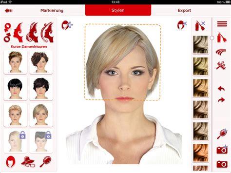 frisuren testen app trendige kurzhaarfrisuren