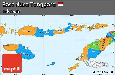 political simple map  east nusa tenggara