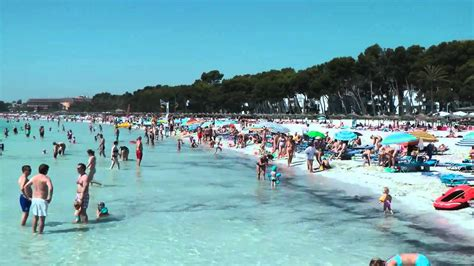 alcudia beach majorca july  youtube
