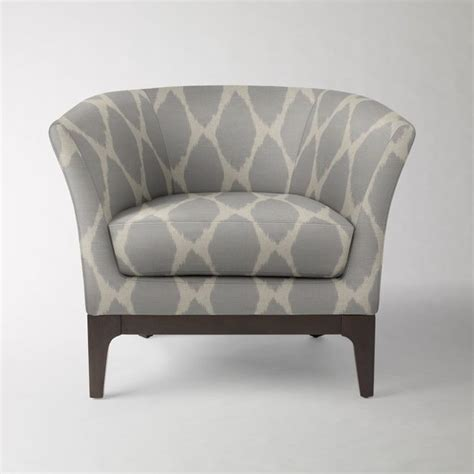 tulip chair ikat feather gray flax contemporary