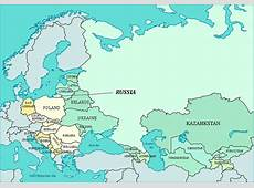 Map of Russia & Eastern European Countries