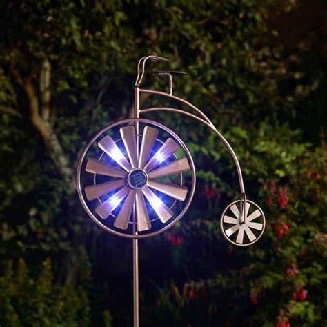 smart solar wind spinner penny farthing wind spinner