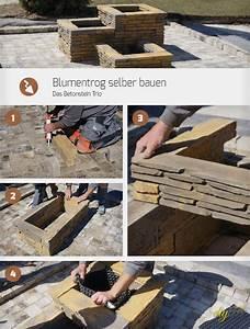 Betonsteine Selber Machen : blumentrog selber bauen das betonstein trio anleitung ~ Michelbontemps.com Haus und Dekorationen