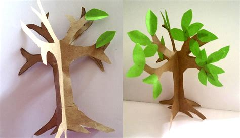 easy paper craft tree imagine forest