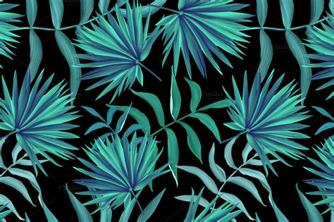 tropical wild templat tropical pattern jungle palm leaves patterns on