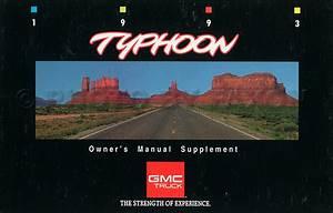 1993 Gmc Typhoon Original Service Manual Supplement