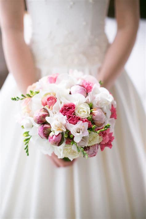brautstrauss  rosa und weiss heiraten mit brautde