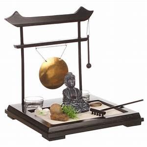 Objet Deco Zen : jardin zen japonais objet de d coration avec accessoires et supports bougies ac deco ~ Teatrodelosmanantiales.com Idées de Décoration