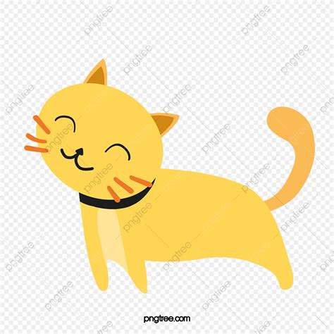 lazy cat cat clipart yellow cartoon png transparent