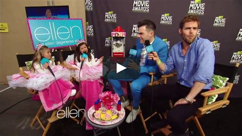 zachary quinto interview ellen zachary quinto and chris pine mtv movie awards interview
