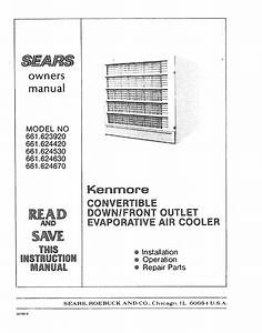 Sears Air Conditioner 661 62467 User Guide