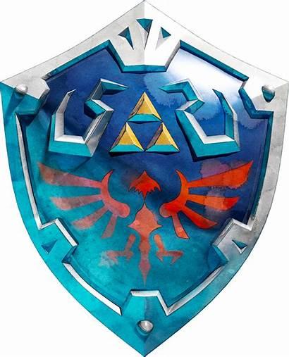 Shield Hylian Zelda Sword Skyward Legend Hyrule
