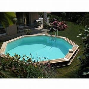 Piscine Bois Ubbink : piscine bois oc a 580 h130 cm ubbink liner beige ~ Mglfilm.com Idées de Décoration