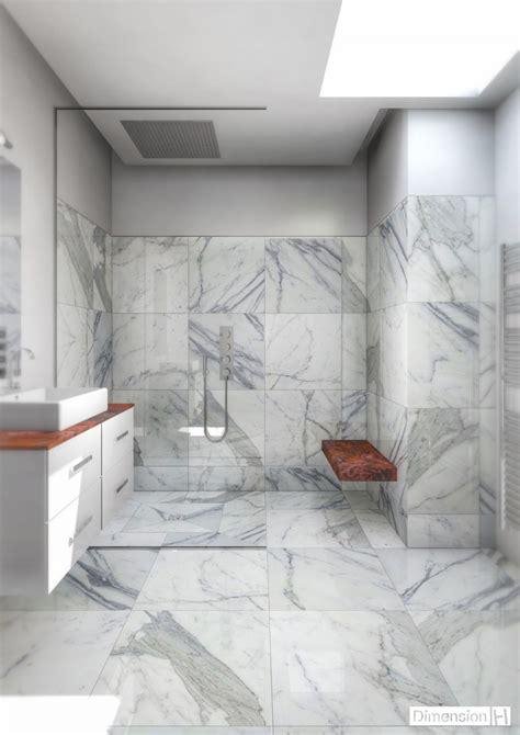 dimension h salle de bains en marbre