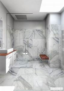 dimension h salle de bains en marbre With salle de bain marbre carrare