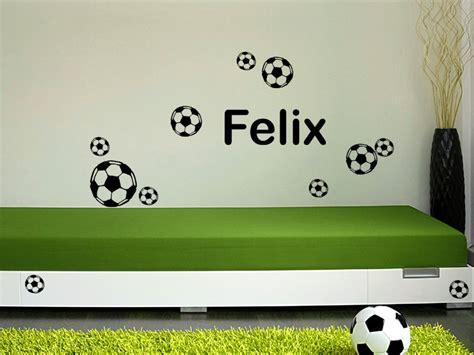 Wandtattoo Kinderzimmer Fussball by Jungen Wandtattoo Fu 223 Set Mit Wunschname Bei