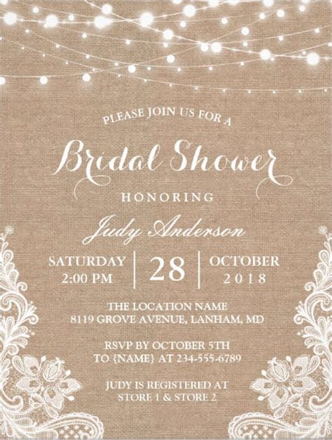 bridal shower invitations psd eps