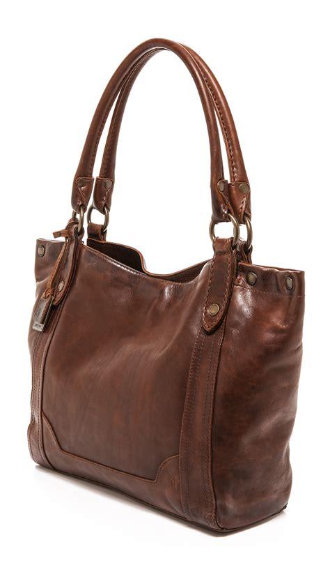 frye melissa shoulder bag dark brown  brown lyst