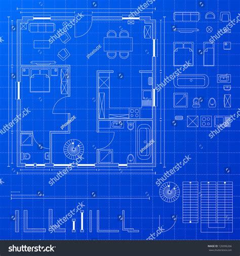 create a blueprint free detailed illustration blueprint floorplan various design stock vector 126996266 shutterstock