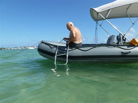 Folding Up A Zodiac Boat by Foldable Swimming Ladder For Boats Dinghy Kaboat