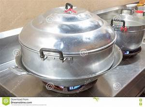 Steamer Pot On The Stove Royalty-Free Stock Image ...