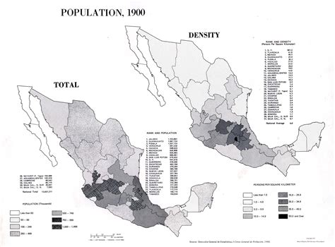 Mexico Population Map