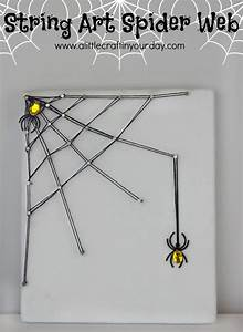 DIY String Art Spider Web - A Little Craft In Your Day